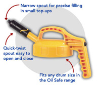 oil safe mini spout lid